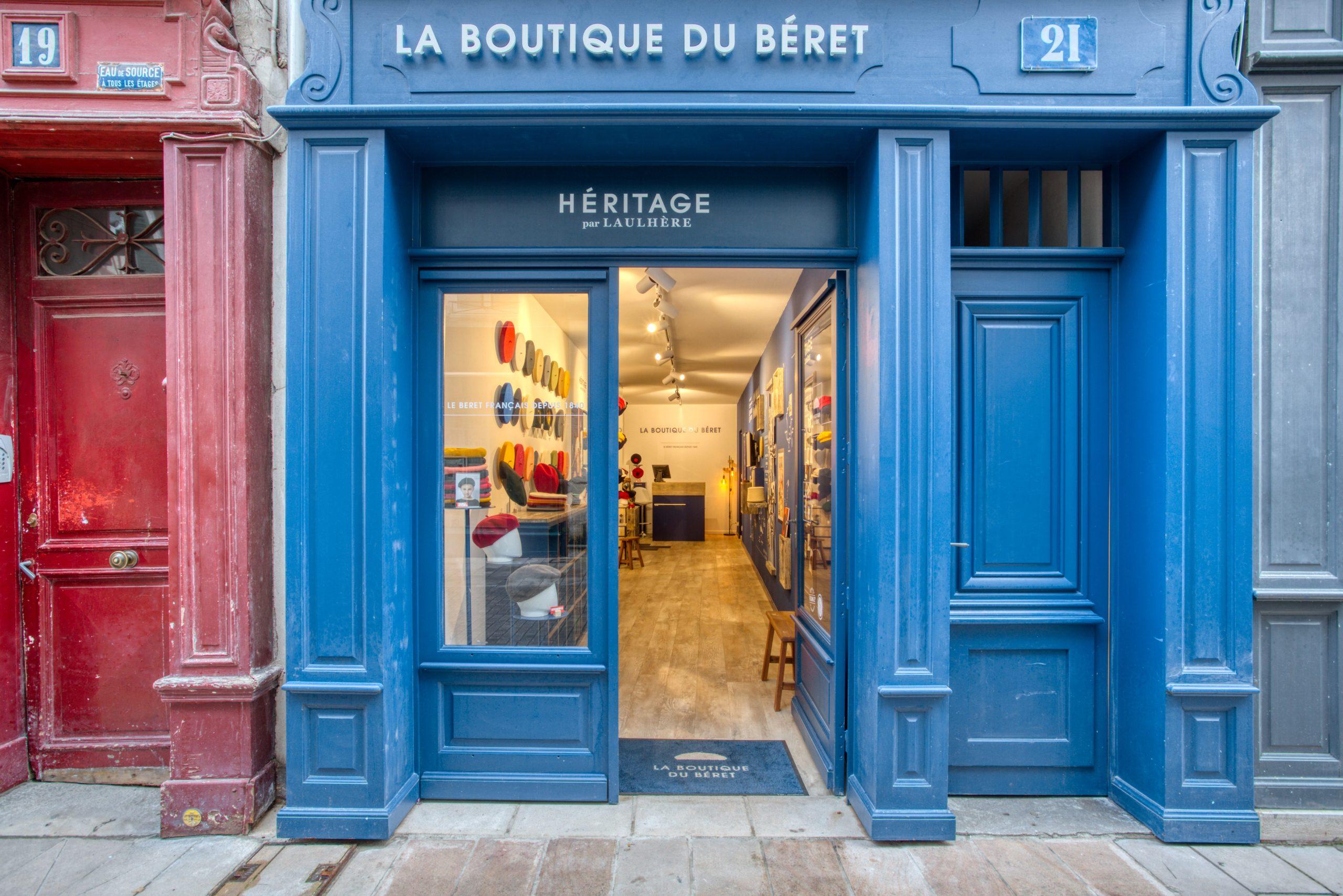 Atelier Plurielles Architectures - Aménagement Boutique Bayonne - Le Béret Basque - façade