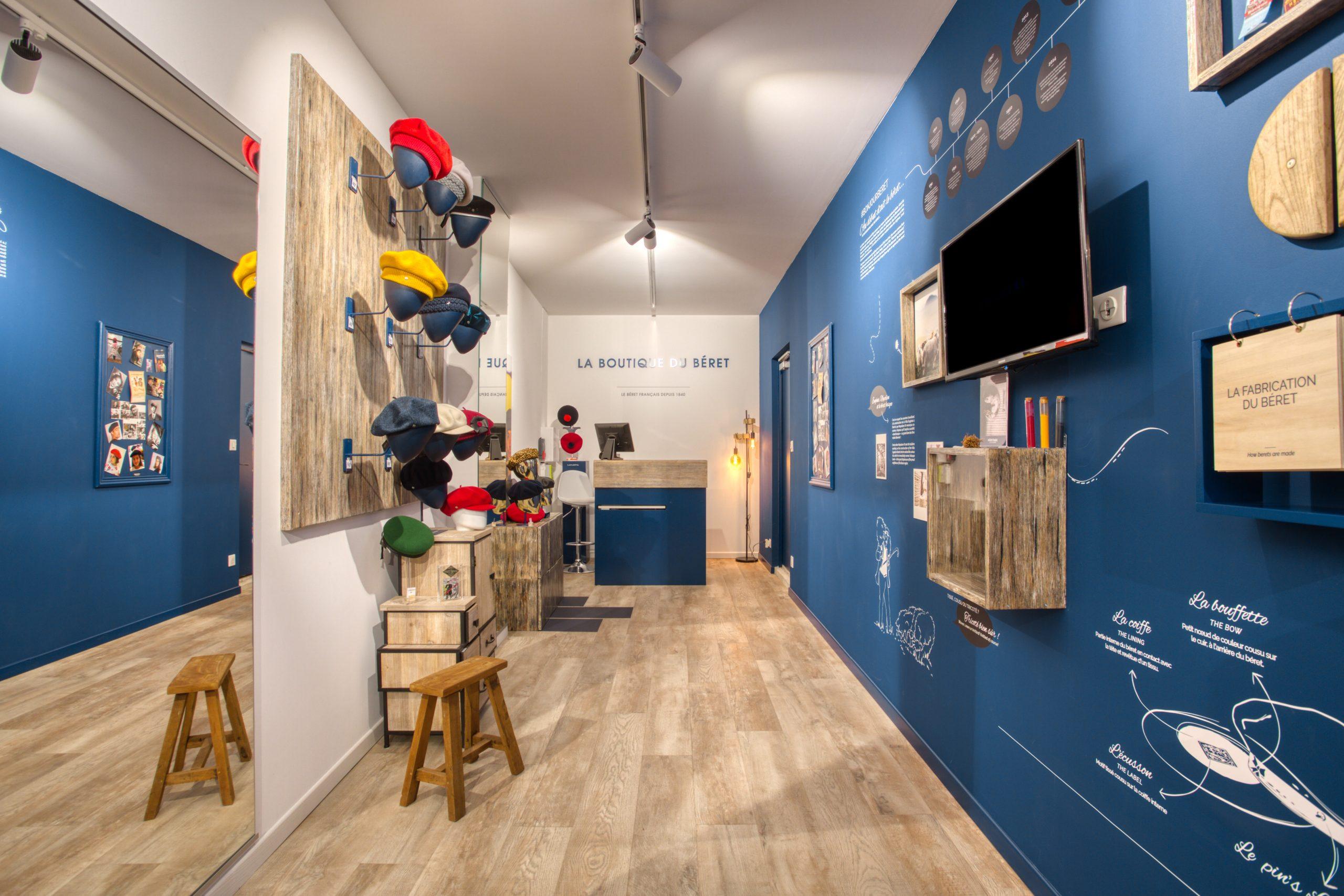Atelier Plurielles Architectures - Aménagement Boutique Bayonne - Le Béret Basque - intérieur boutique 1