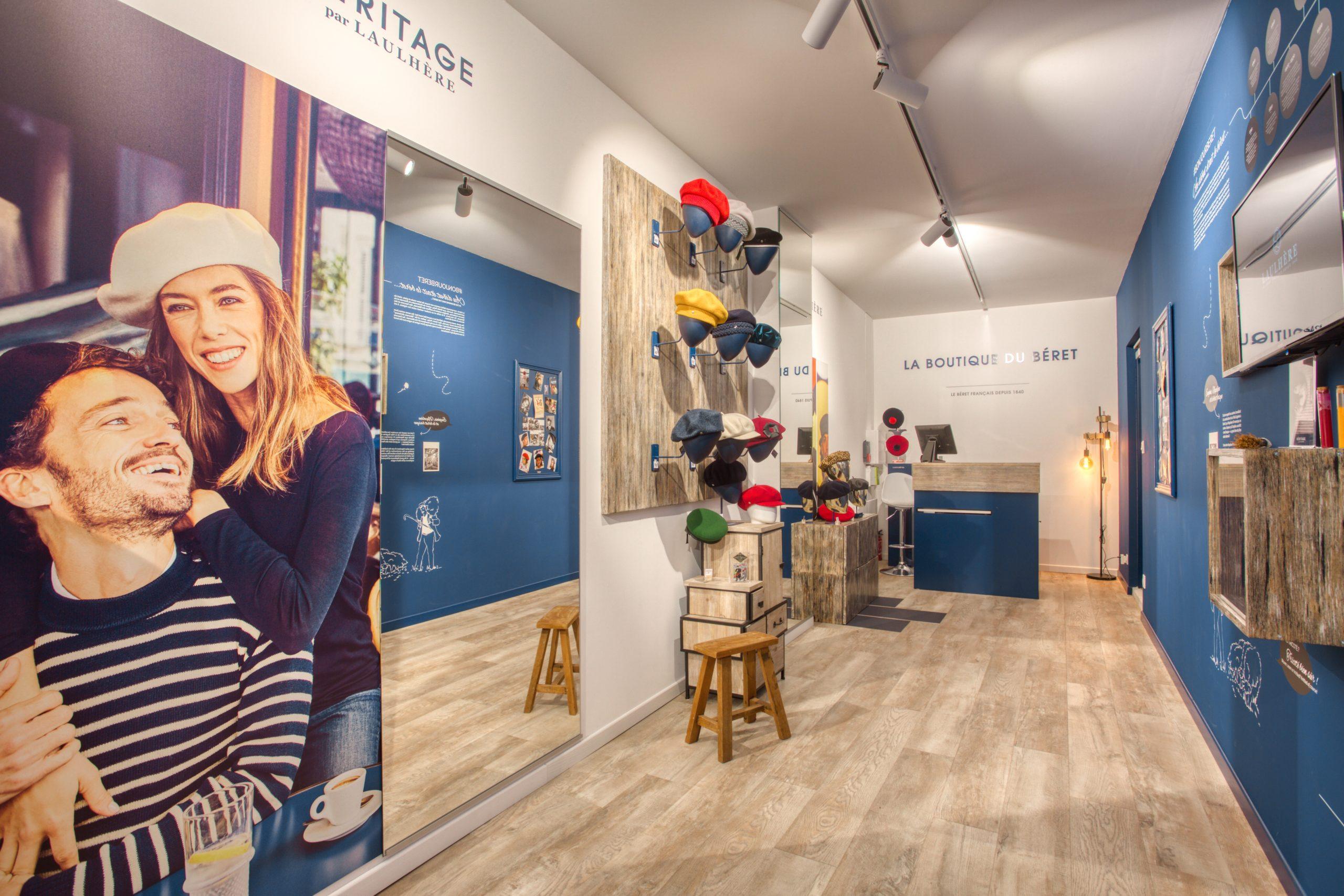 Atelier Plurielles Architectures - Aménagement Boutique Bayonne - Le Béret Basque - intérieur boutique 10