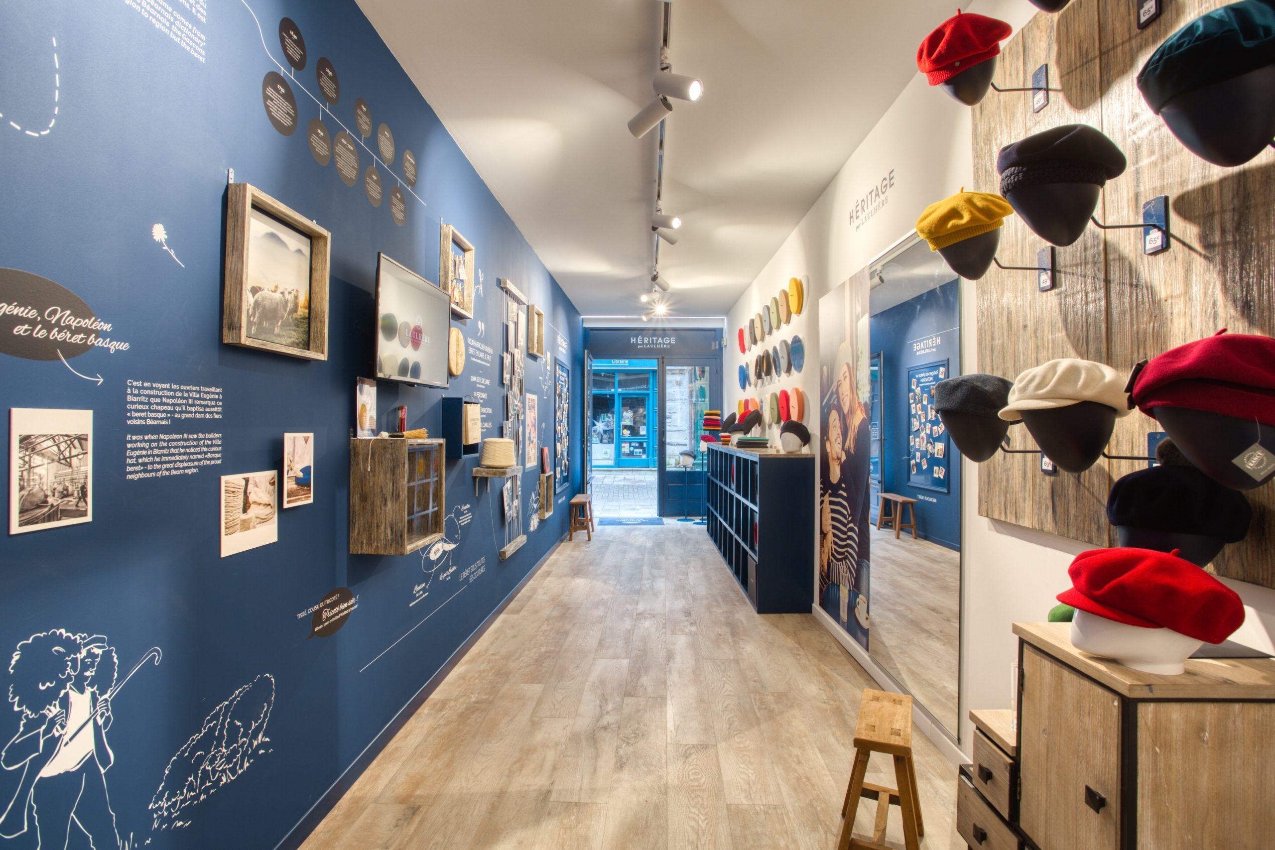 Atelier Plurielles Architectures - Aménagement Boutique Bayonne - Le Béret Basque - intérieur boutique 11