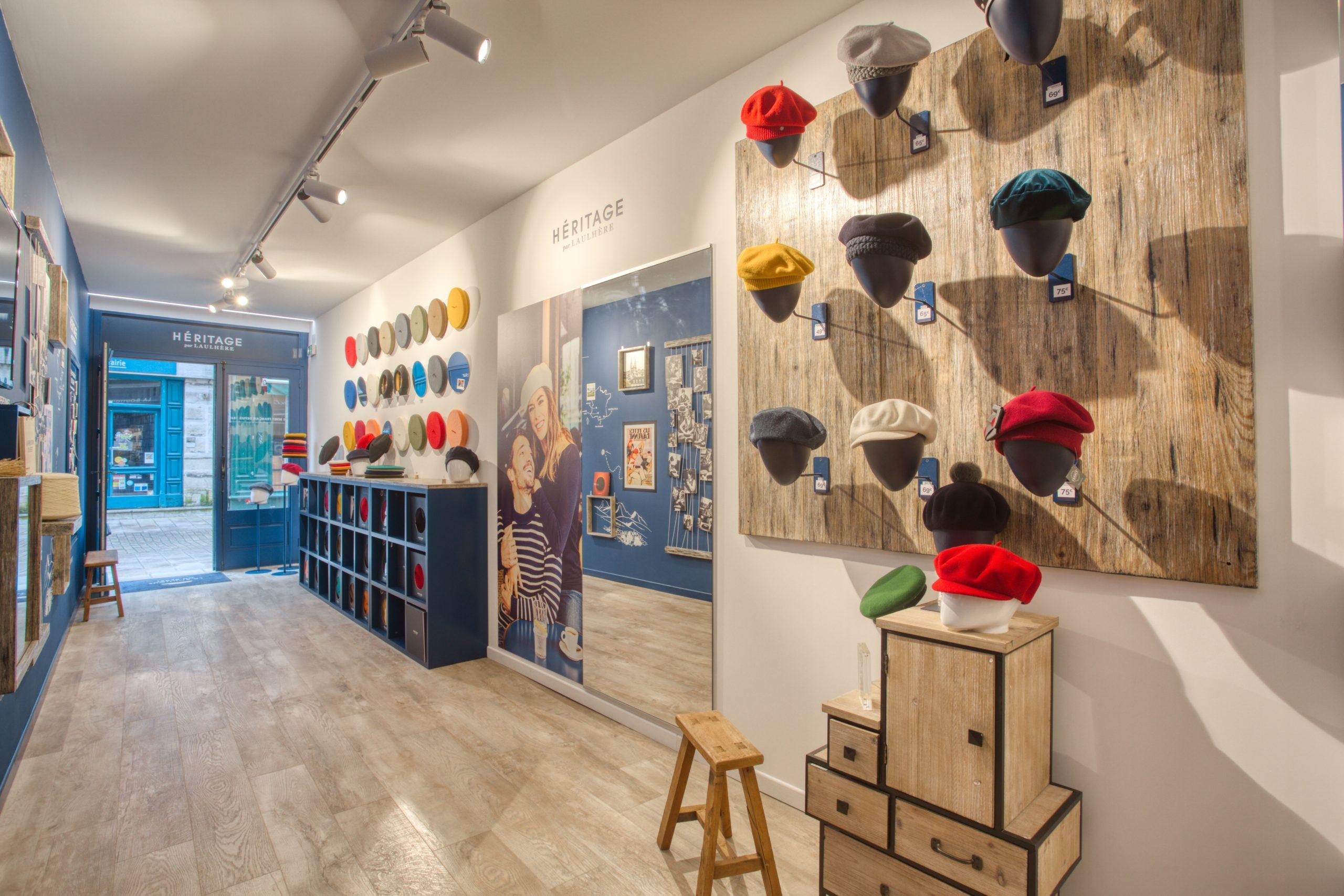 Atelier Plurielles Architectures - Aménagement Boutique Bayonne - Le Béret Basque - intérieur boutique 12
