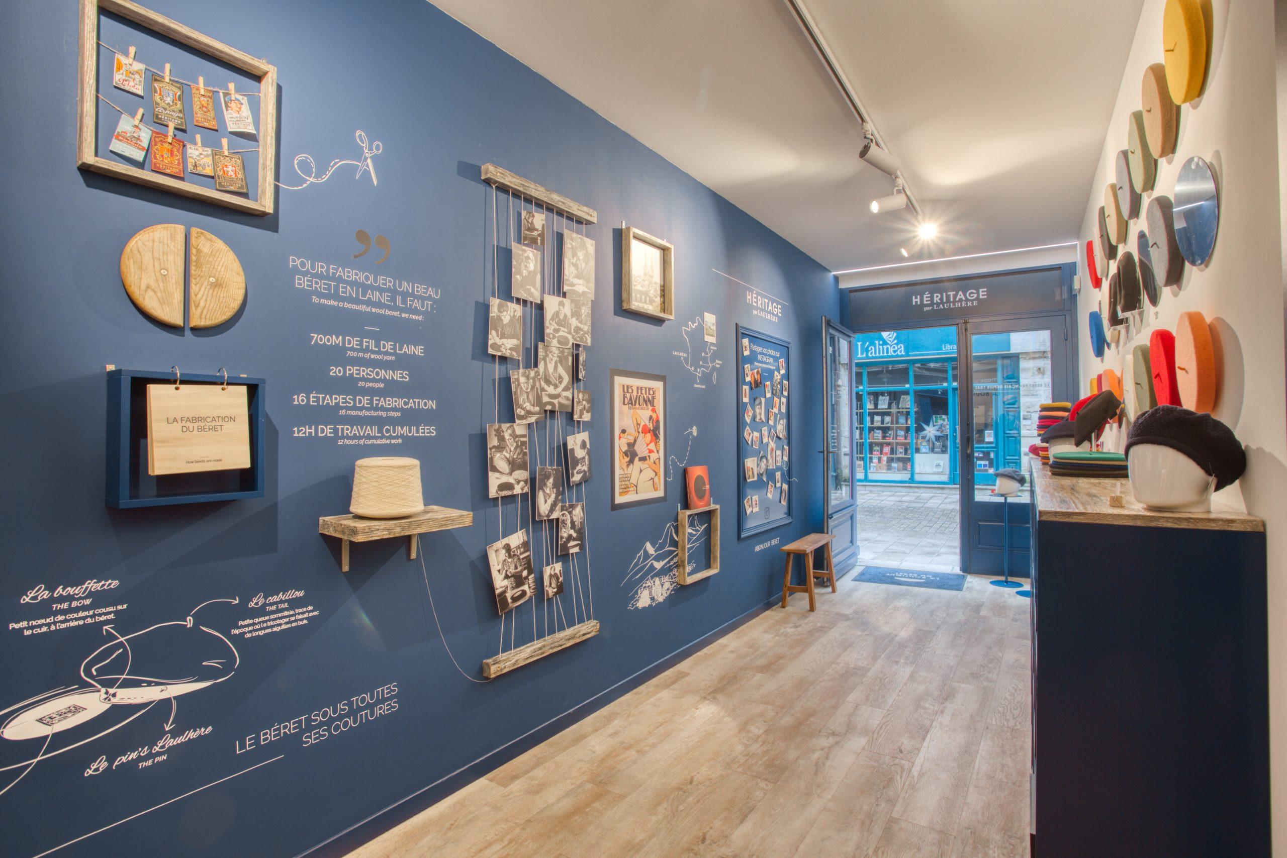 Atelier Plurielles Architectures - Aménagement Boutique Bayonne - Le Béret Basque - intérieur boutique 13