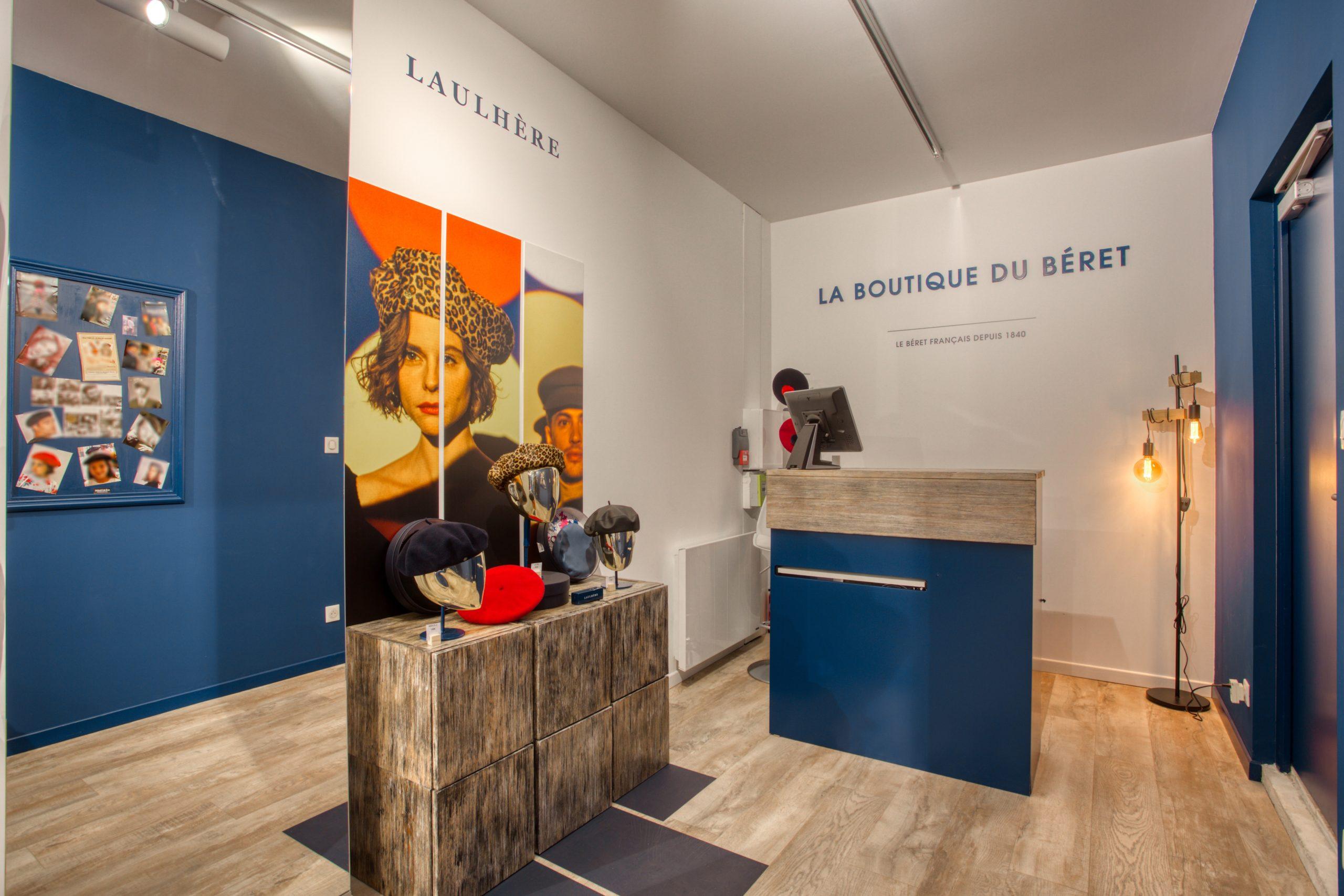 Atelier Plurielles Architectures - Aménagement Boutique Bayonne - Le Béret Basque - intérieur boutique 2