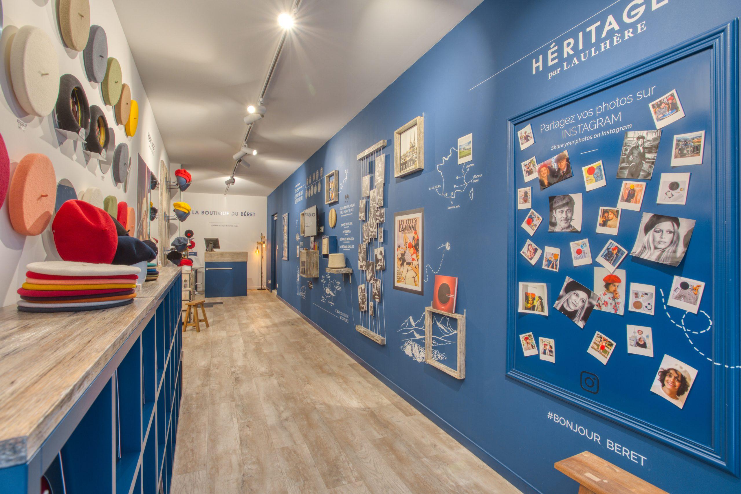 Atelier Plurielles Architectures - Aménagement Boutique Bayonne - Le Béret Basque - intérieur boutique 4