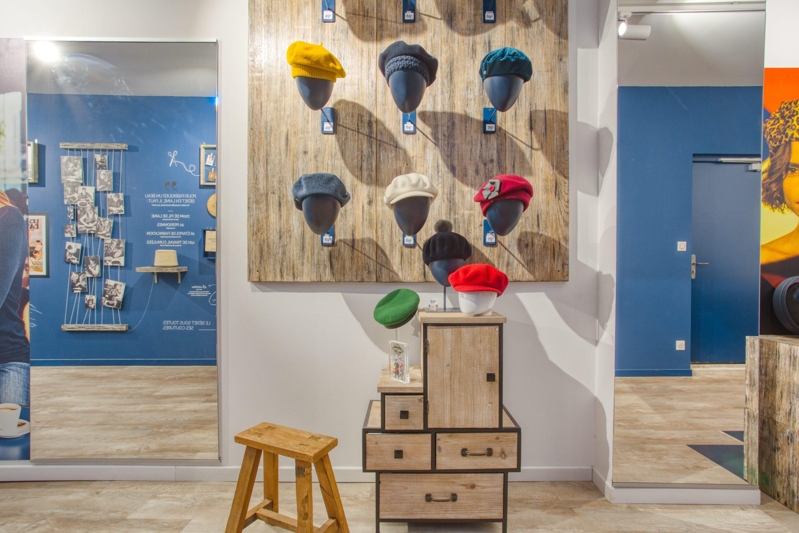 Atelier Plurielles Architectures - Aménagement Boutique Bayonne - Le Béret Basque - intérieur boutique 5