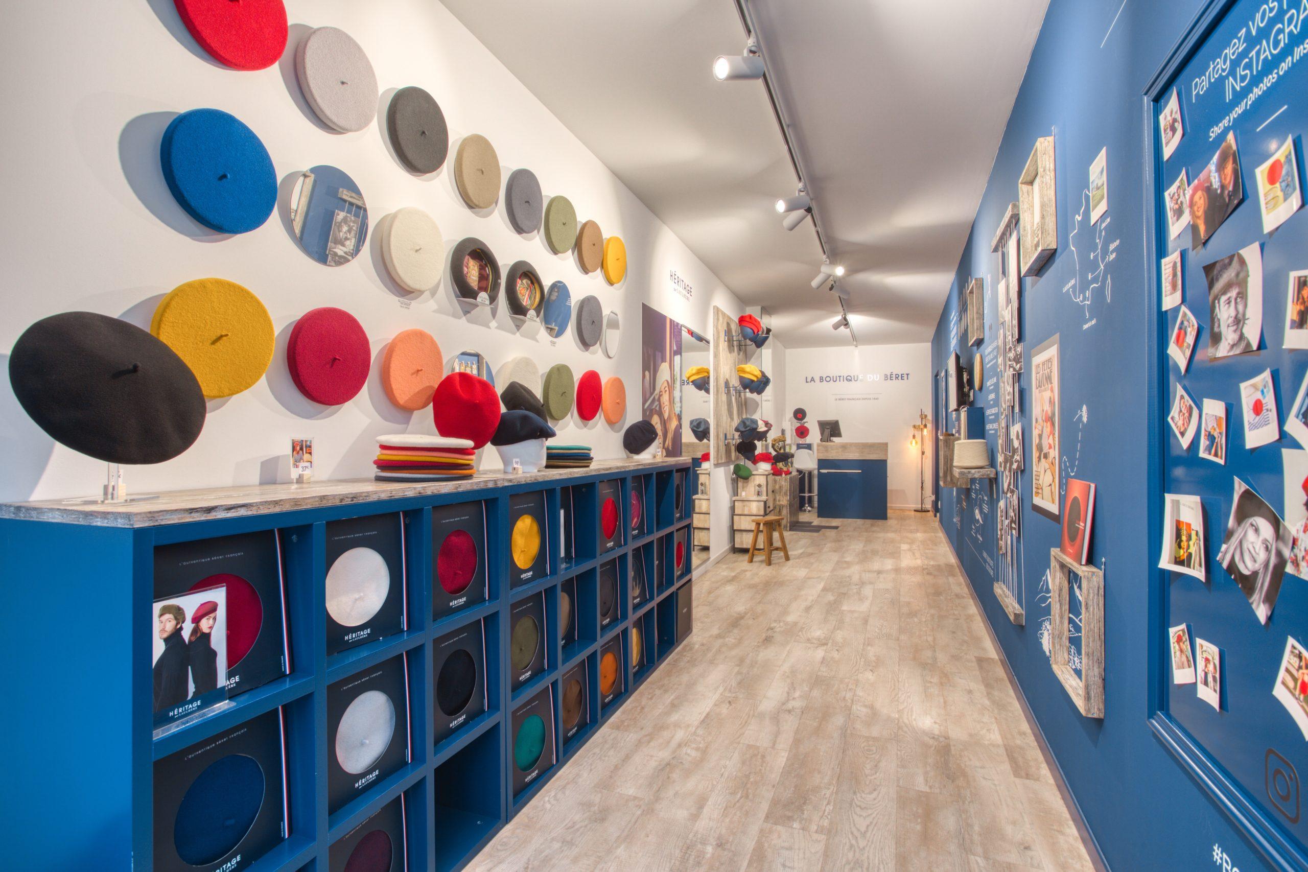 Atelier Plurielles Architectures - Aménagement Boutique Bayonne - Le Béret Basque - intérieur boutique 7