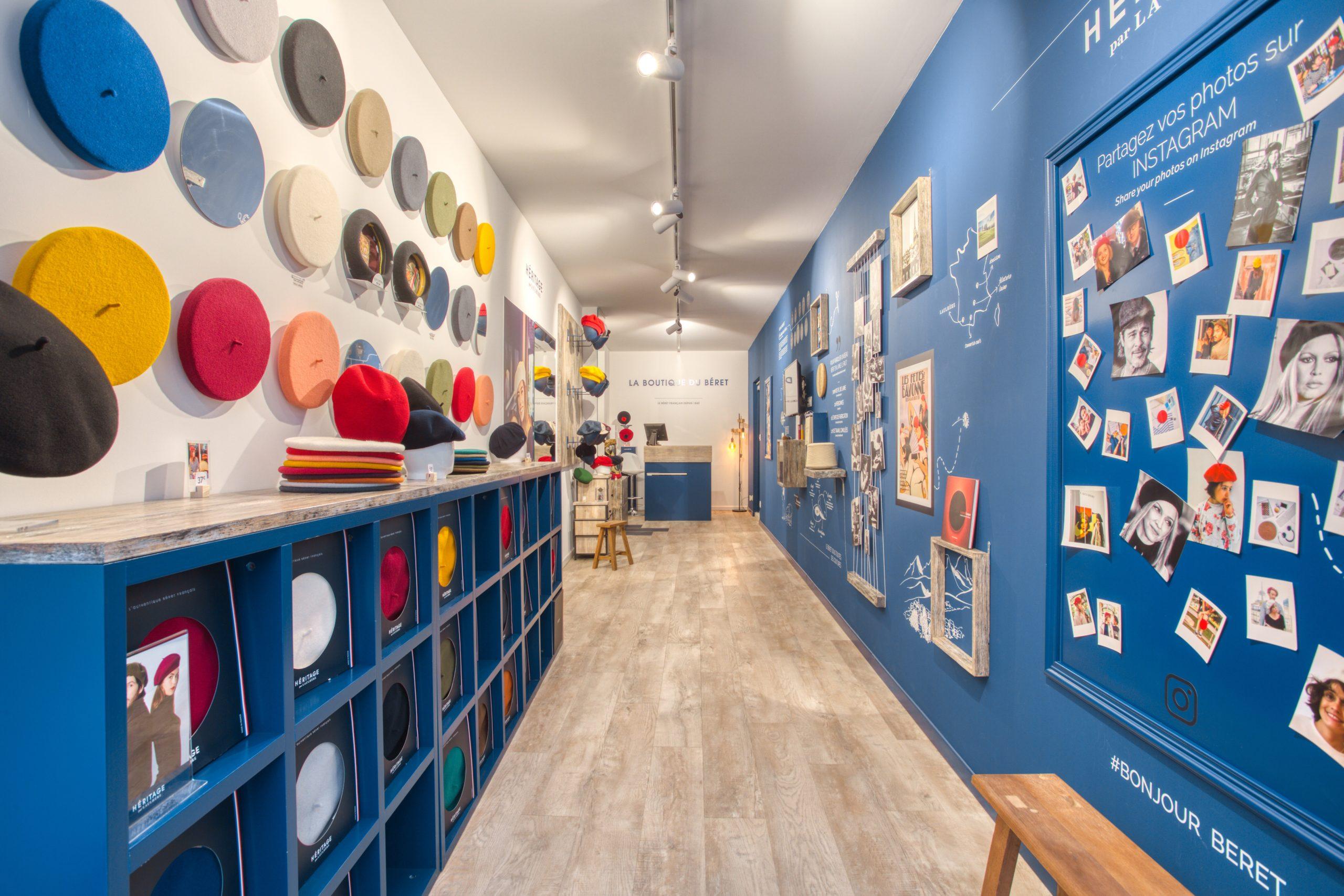 Atelier Plurielles Architectures - Aménagement Boutique Bayonne - Le Béret Basque - intérieur boutique 8