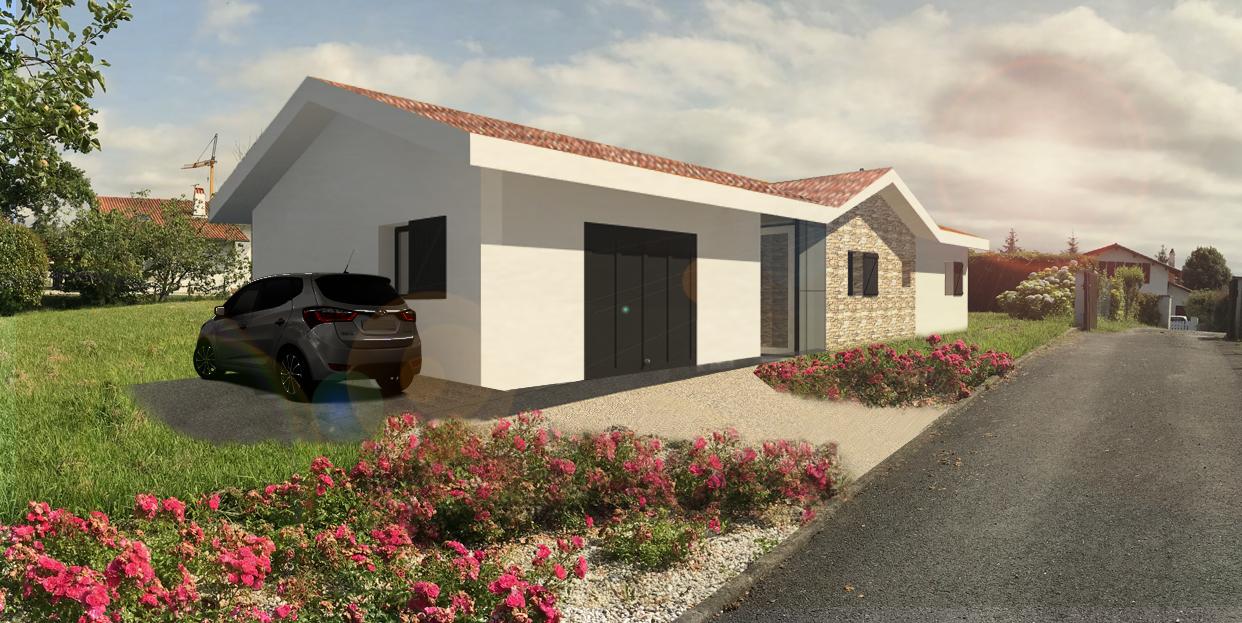 Atelier-Plurielles-Architectures-Construction maison Basque à Hendaye- entrée