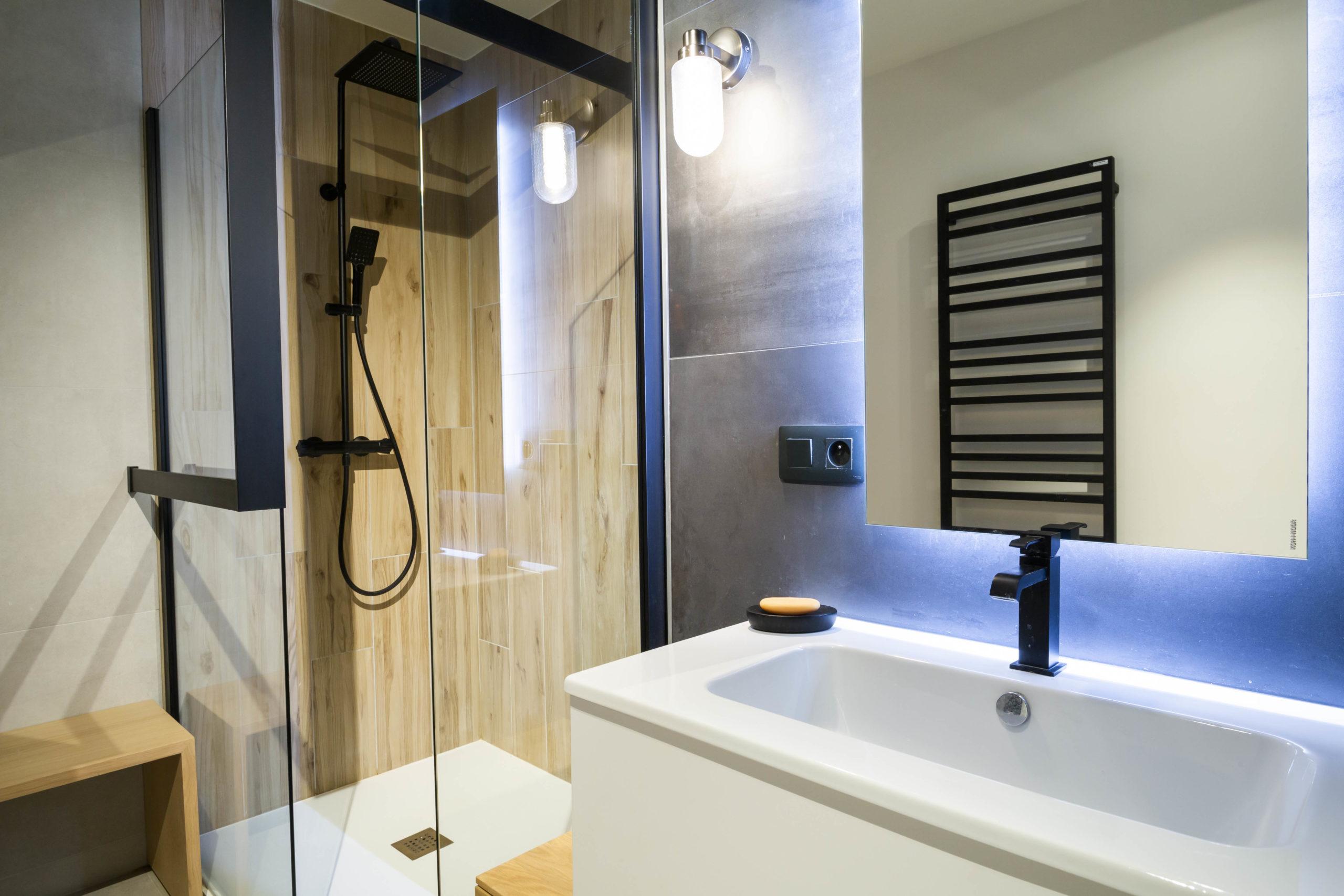 Atelier Plurielles Architectures Réaménagement appartement Anglet - douche