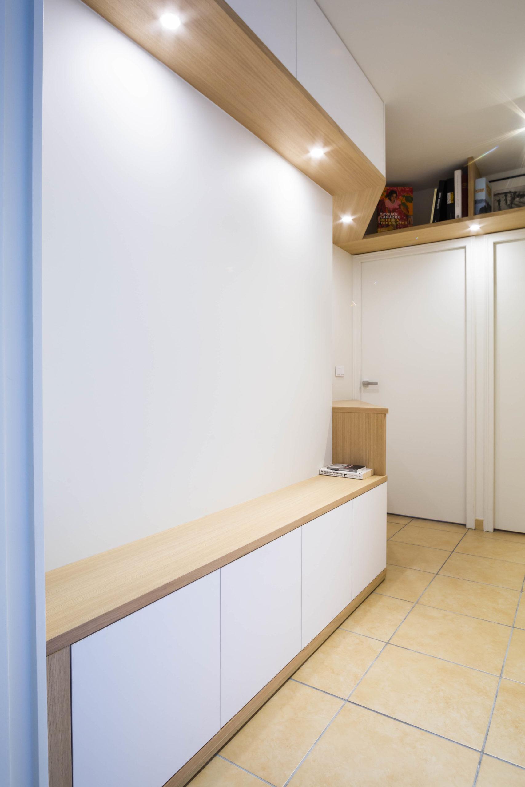 Atelier Plurielles Architectures Réaménagement appartement Anglet - meuble entrée 2