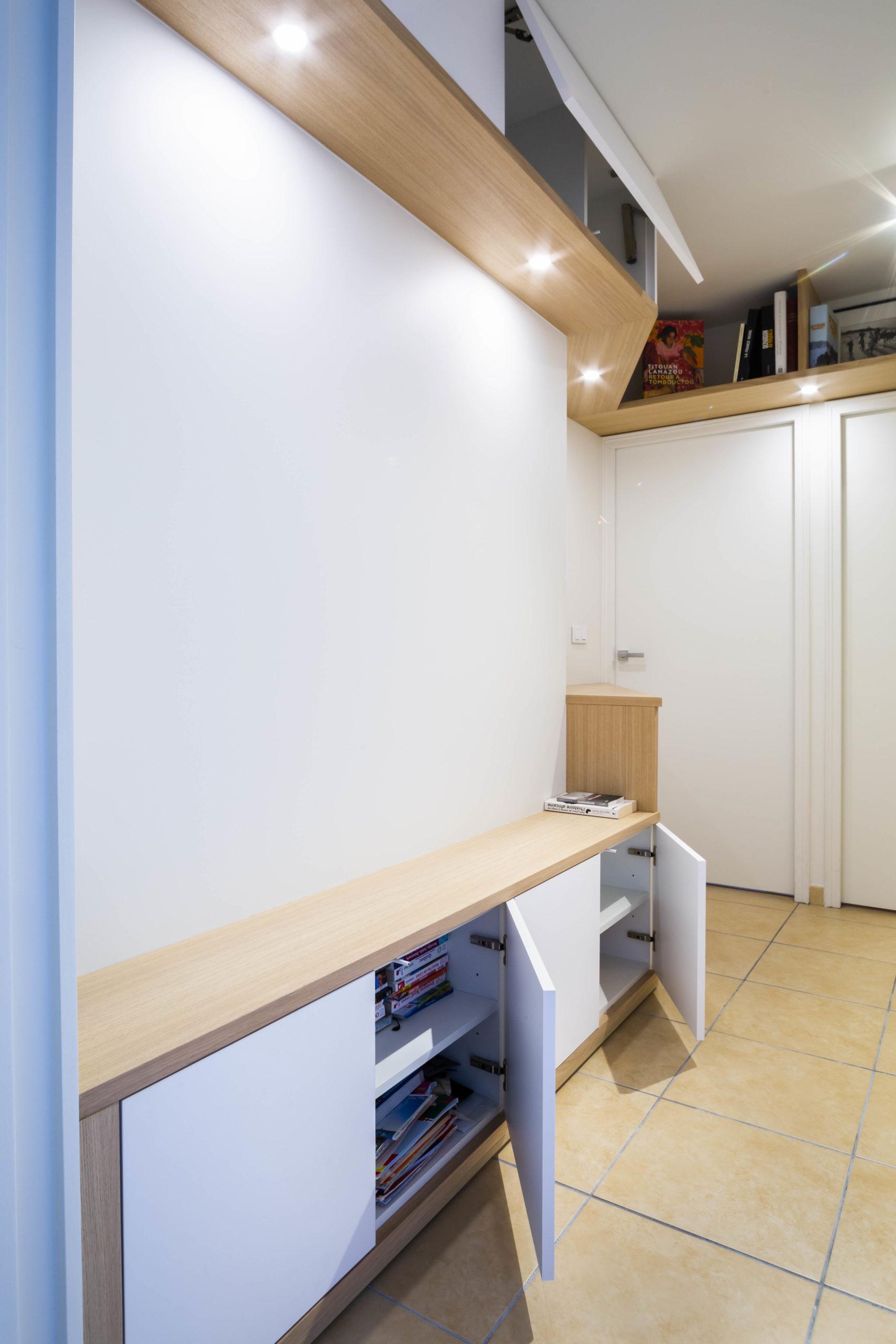 Atelier Plurielles Architectures Réaménagement appartement Anglet - mobilier sur mesure