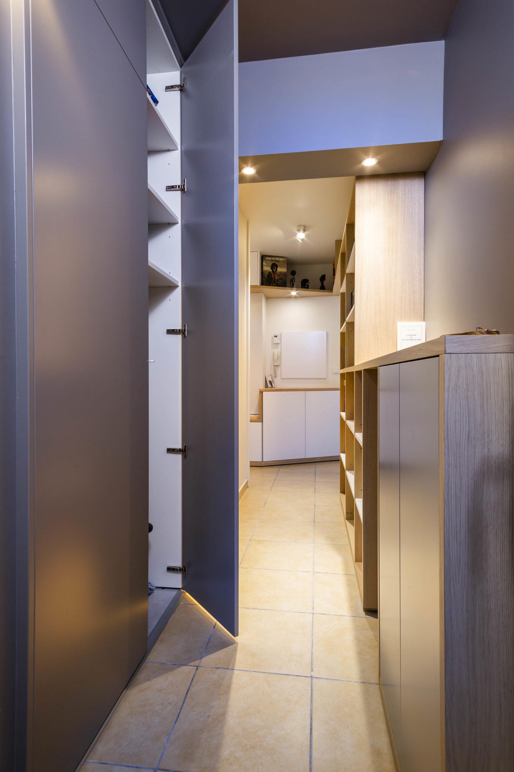 Atelier Plurielles Architectures Réaménagement appartement Anglet - placard