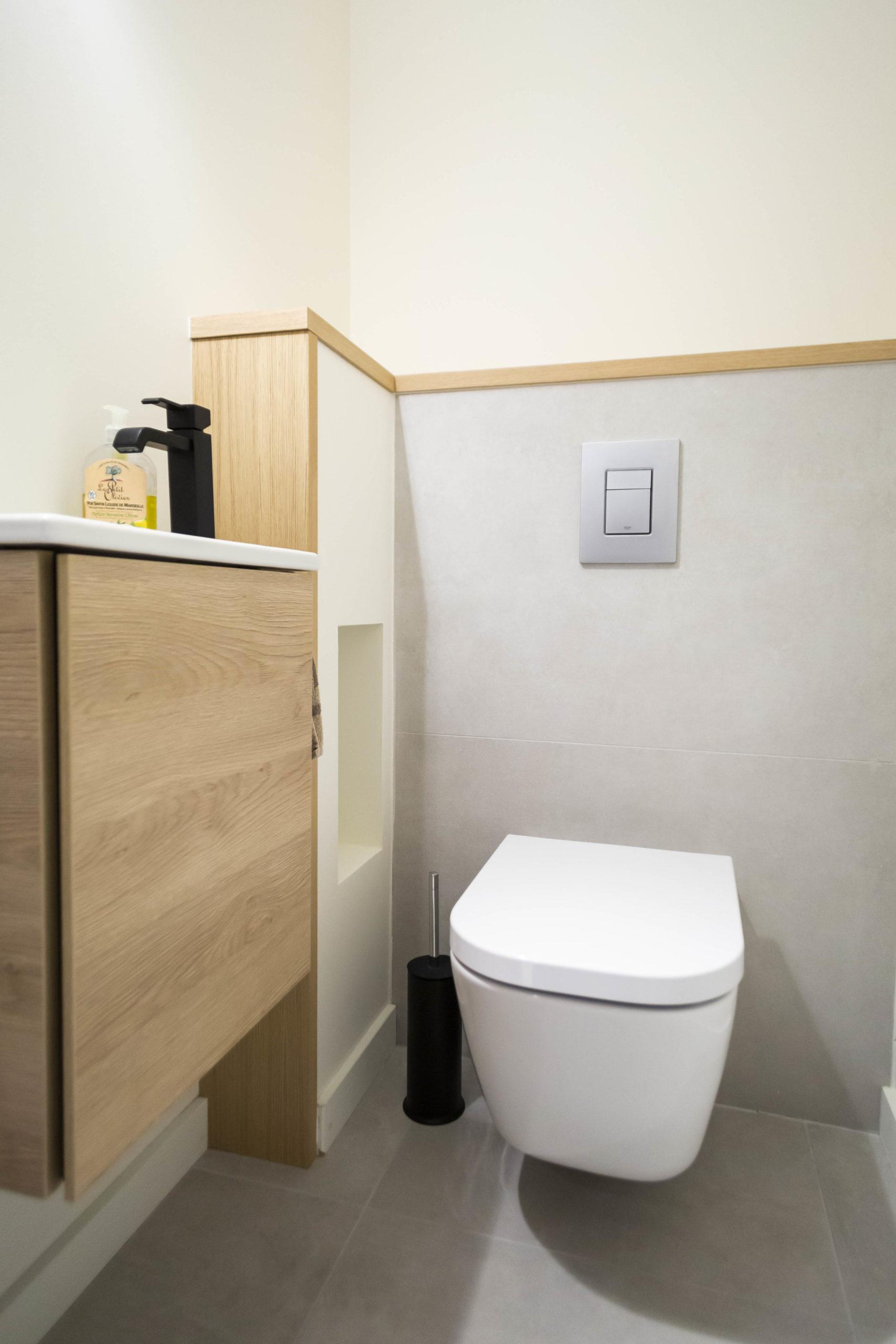 Atelier Plurielles Architectures Réaménagement appartement Anglet - WC