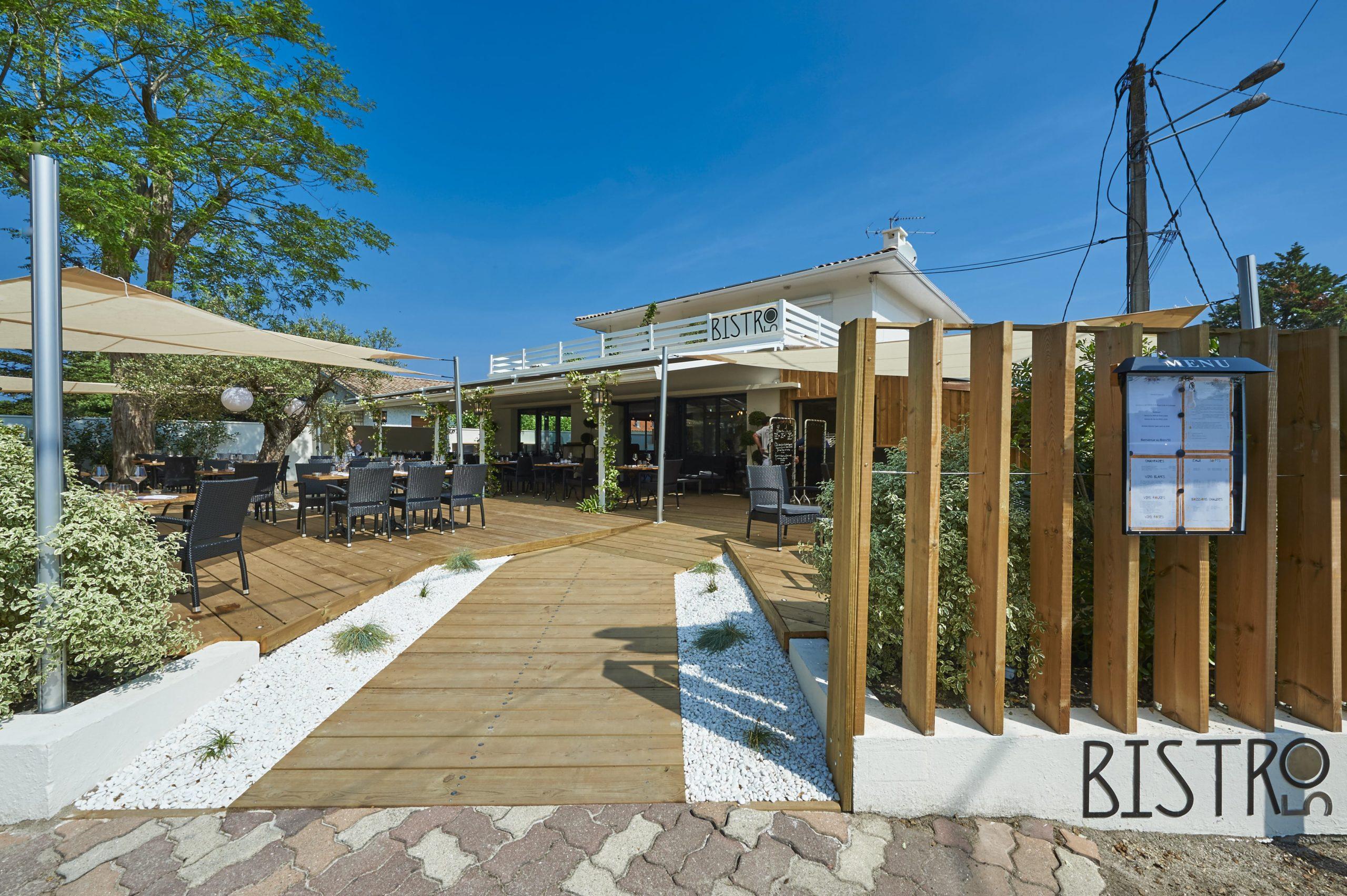 Atelier Plurielles Architectures Rénovation restaurant Gujan Mestras - entrée